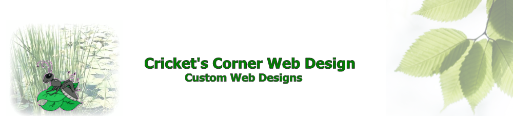 Cricket's Corner Web Design